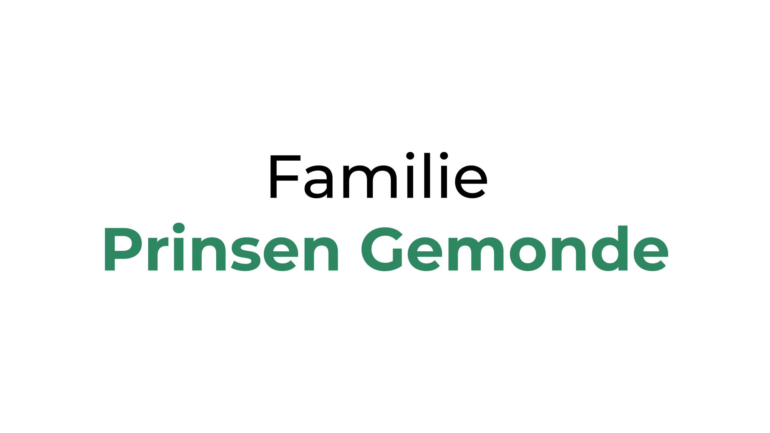 Familie Prinsen Gemonde