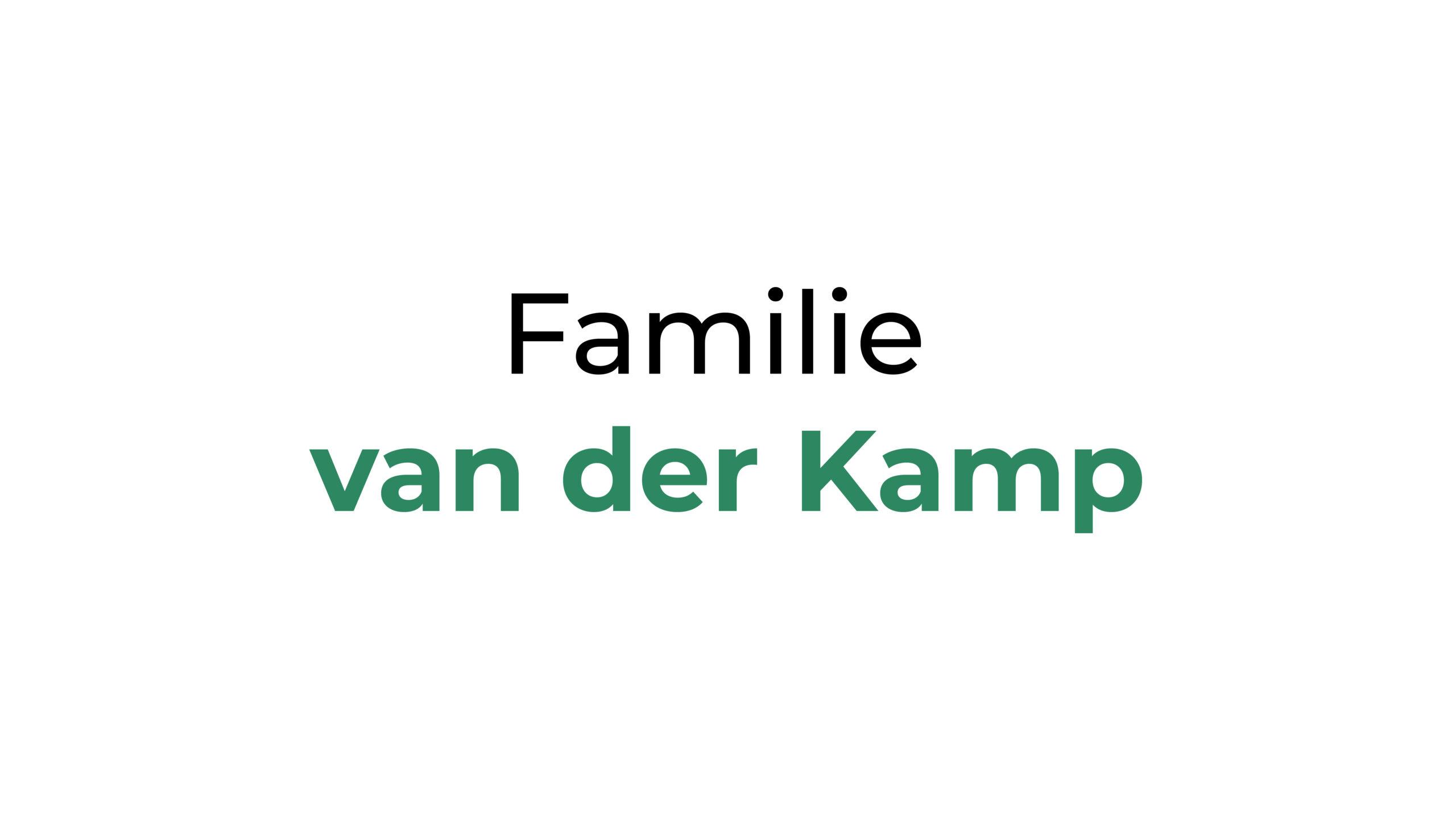 Familie van der Kamp